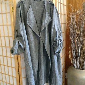 Jackets & Blazers - Womens Long Trench Blazer Coat
